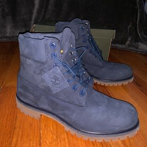 Timberland blue suede